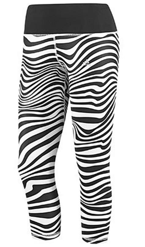 zebra pattern adidas fashion sport tights fashion running tights by adidas