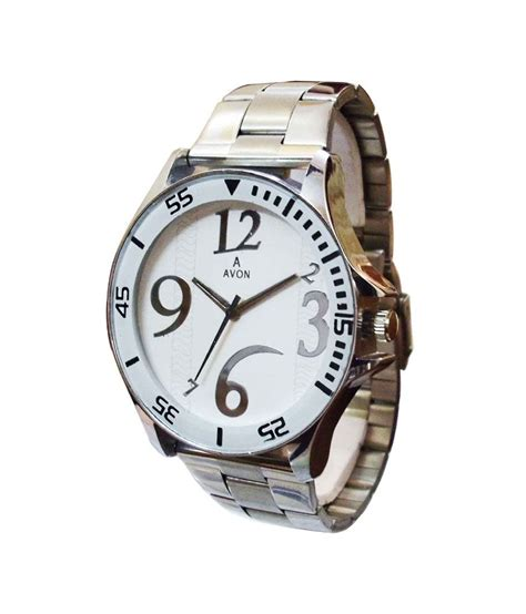 avon formal analog white dial mens