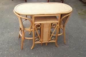 Wicker Kitchen Table Small Kitchen Wicker Table And 2 Chair Set Antique Saleroom