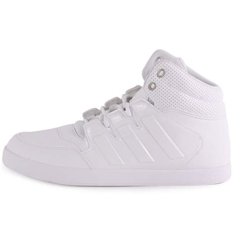 adidas dropstep mens synthetic leather white white