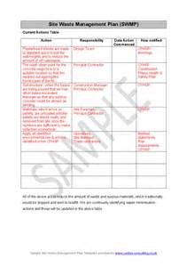 waste management plans template site waste management plan swmp hashdoc