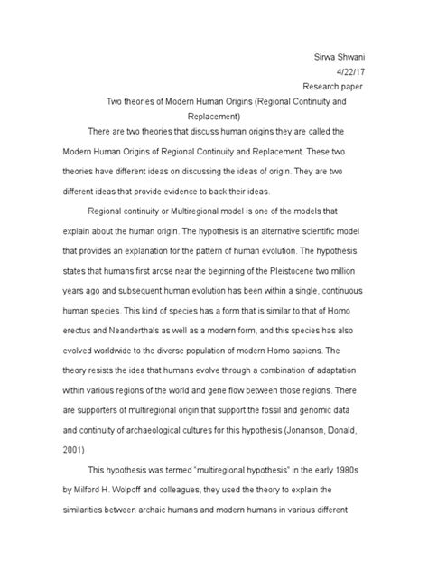 research paper anthropology | Human Evolution | Homo Sapiens