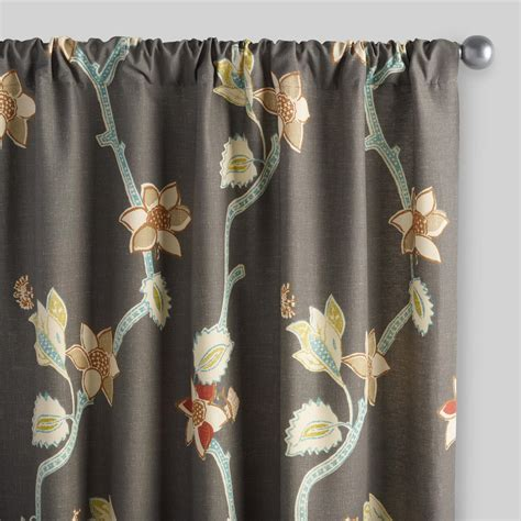 bird curtains drapes bird of paradise pakshi curtains set of 2 world market