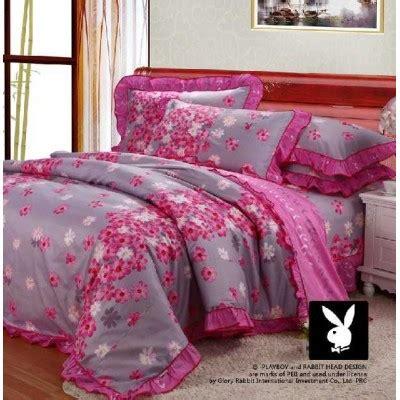 playboy bedroom set playboy 4 piece pink flower bedding set sygmall
