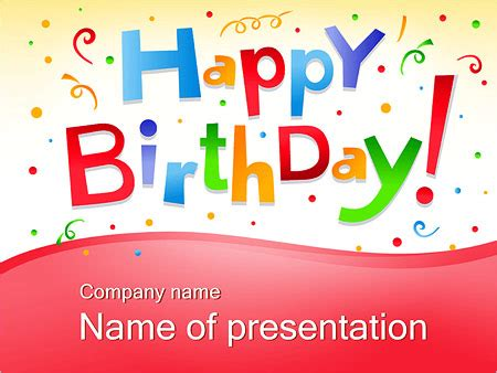 Free Other Design File Page 19 Newdesignfile Com Happy Birthday Powerpoint Template