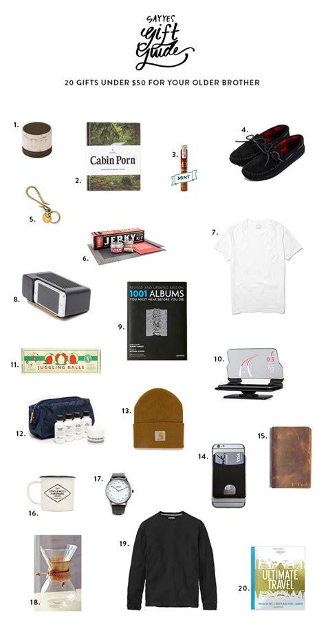 gifts for brothers 20 gifts 50 for your say yes
