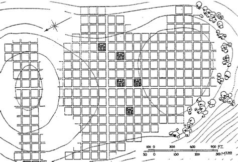 grid pattern planned city in india qa586 the grid plan of the urartian town of zernaki tepe