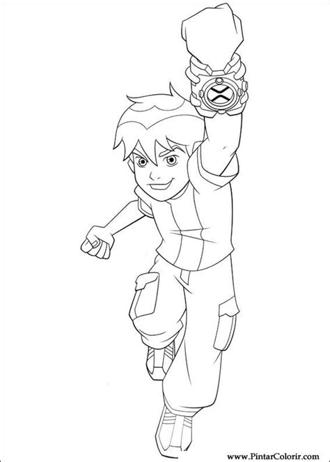 painting for ben 10 drawings to paint colour ben 10 print design 001