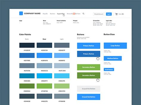 ui pattern list 40 great exles of ui style guides web graphic