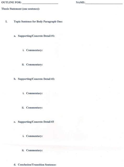 Different Outline Formats by Writing A Research Paper Outline Mla Style