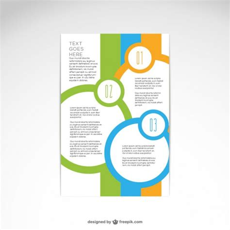 free design of leaflet brochure abstract design vector free download