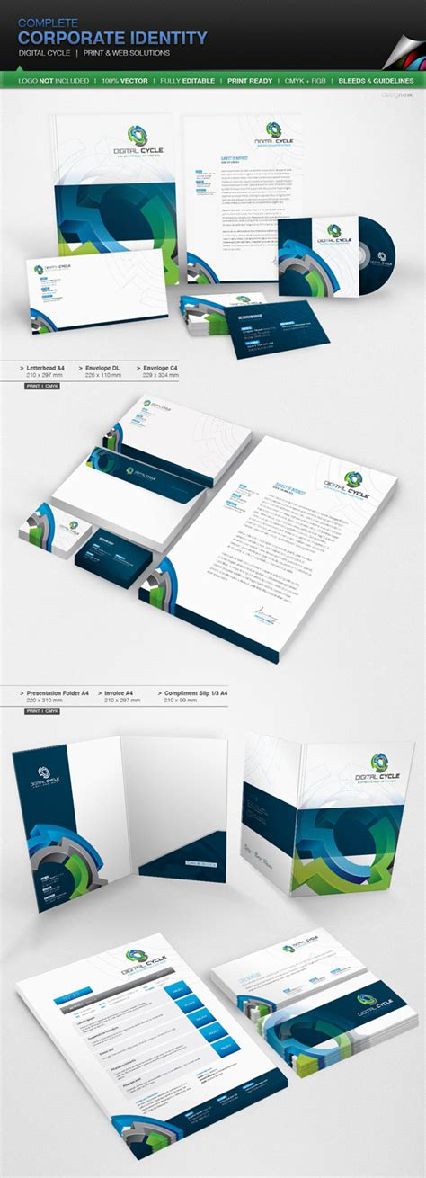 15 Corporate Brand Identity Packages With Creative Designs Branding Package Template