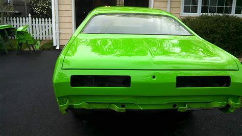 72 duster vibrant lime green