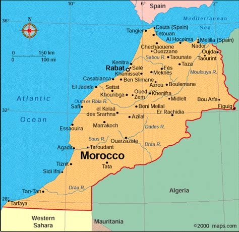 world map of morocco atlas morocco