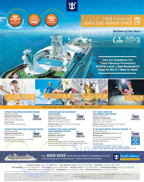 Royal Caribbean Gift Card Discount - royal caribbean 8 oct 2015 187 royal caribbean roadshow vivocity 9 11 oct 2015