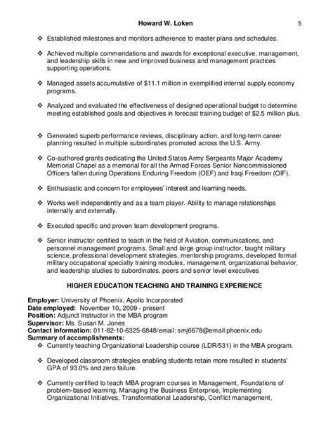 History Professor Resume by Howard Loken S Adjunct Assistant Professor Resume 2016