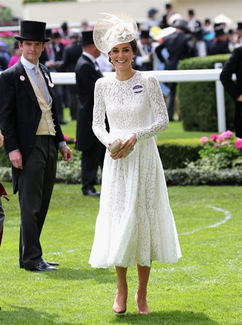 Kate Middleton stuns in elegant lace dress at Ascot as she