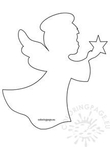 angel star template coloring