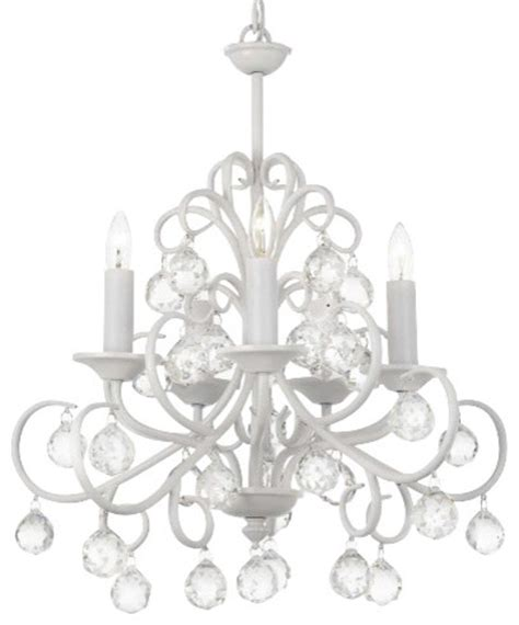 Bellora Chandelier Bellora Wrought Iron Chandelier With Facet White Traditional Chandeliers By Gallery