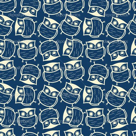 pattern cute blue cute seamless owl background pattern stock vector places