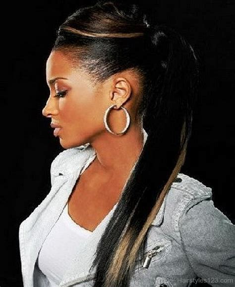 black hairstyles pictures ponytails black ponytail hairstyles