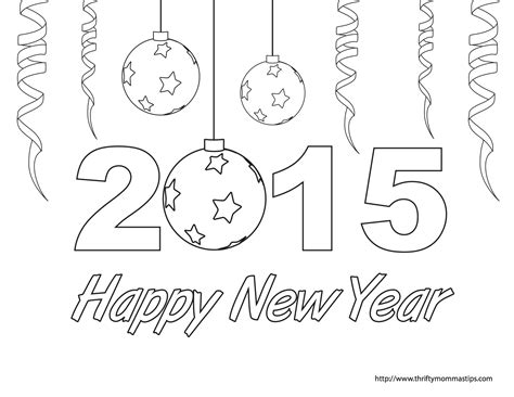 free coloring page happy new year happy new year coloring page