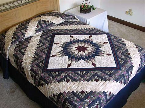 Lone Log Cabin Quilt Pattern by Lone Log Cabin Quilt Exquisite Specially Made