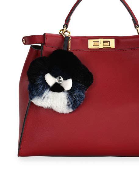 Fendi Handbag Charm by Fendi Fur Flower Charm For Handbag