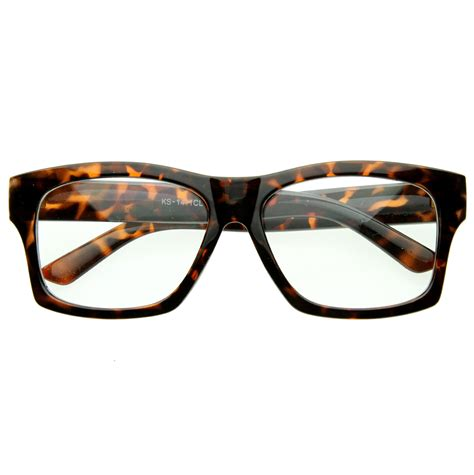frames bold thick square fashion clear lens