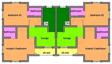 building plans for two bedroom house two bedroom semi detached house plan house design and plans