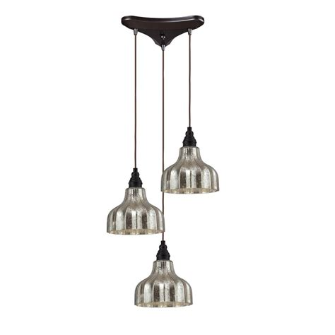 Multi Pendant Light Multi Light Pendant Light With Mercury Glass And 3 Lights 46008 3 Destination Lighting