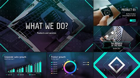 template after effects presentation videohide business of the future modern corporate