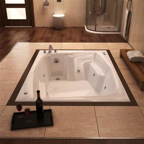 bathtubs 54 inches long atlantis tubs 5472cwl caresse 54 x 72 x 23 inch