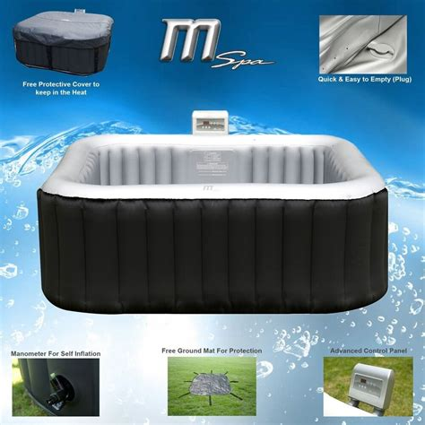 mspa alpine luxury inflatable  square portable jacuzzi