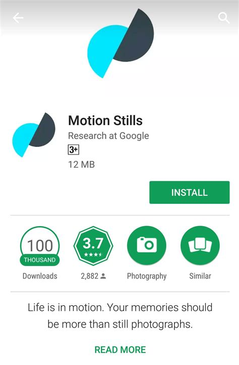 motion app brings ar to motion stills app