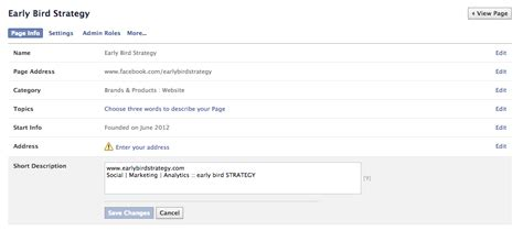 facebook business page about section how to set up a business facebook page 11 can t miss steps
