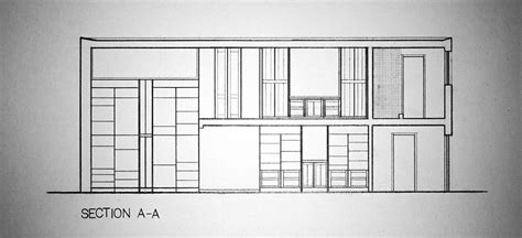 esherick house section additional work 2014 on behance