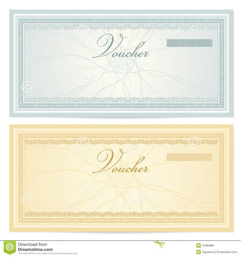 gift certificate voucher template pattern stock image image