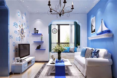wallpaper ruang tamu biru 50 dekorasi interior ruang tamu dengan warna cat biru