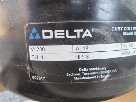 delta machinery    port dust collector   bags