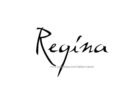 regina name tattoo designs