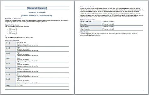 create a syllabus template 1000 ideas about syllabus template on