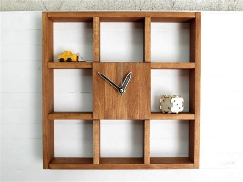 wooden wall clock box  office  home decor square