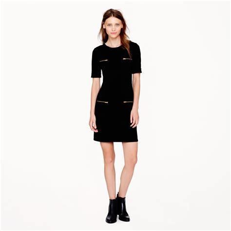 Pocket Dress lyst j crew zip pocket dress in black