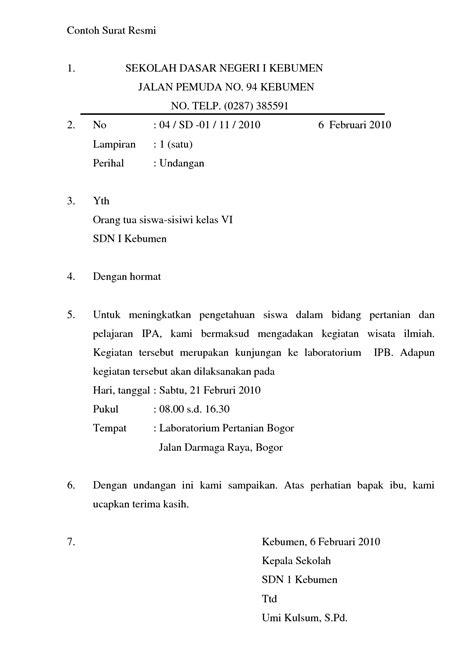 contoh surat pribadi surat dinas dan surat resmi