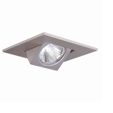 Square Recessed Ceiling Lights Halo 3 In Satin Nickel Recessed Ceiling Light Square Adjustable Eyeball Trim 3013sn The Home