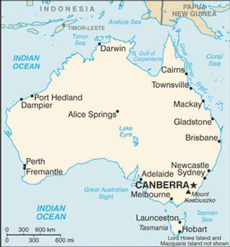 map of australia and major cities australia