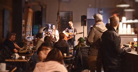 cafe house music vancouver open mic night trees organic coffee roasting house