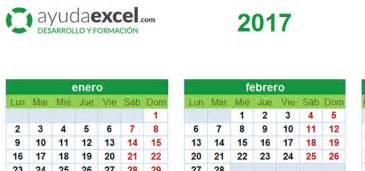 Calendario 2017 Descargar Excel Plantillas Calendario En Excel 2017 Ayuda Excel
