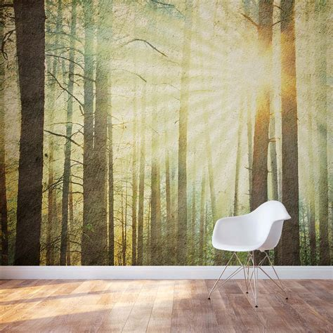 wall murals forest forest wall mural